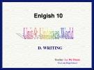 Bài giảng unit 9: Undersea world - Tiếng Anh 10 - GV.La Thị Thuận