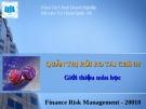 Bài giảng quản trị rủi ro tài chính - Bài 1