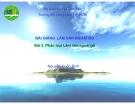 Bài 2 Phân loại Lâm sản ngoài gỗ - Nguyễn Quốc Bình