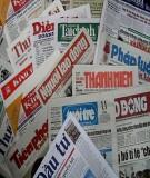 Một số tờ báo tiêu biểu từ khởi thuỷ đến năm 1945