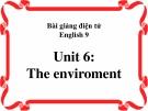 Bài giảng Tiếng Anh 9 unit 6: The environment