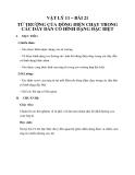 Giáo án bài 21: Từ trường của dòng điện chạy trong các dây dẫn có hình dạng đặc biệt - Lý 11- GV.T.H.Ty