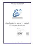 Báo cáo giữa kỳ môn xử lý phân bố - Đề tài: Enterprice Java Bean (EJB)