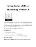 Hướng dẫn tạo USB boot nhanh trong Windows 8