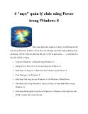 4 mẹo quản lý chức năng power trong windows 8