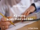 Kỹ năng soạn thảo văn bản - Lê Ngọc Quang