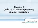 Hệ điều hành LINUX (Nguyễn Nam Trung ) - Chương  5