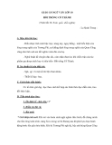 Ngữ văn lớp 10 tuần 26: Hồi trống cổ thành - La Quán Trung - Giáo án
