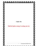 Luận văn:Thiết kế phân xưởng Cracking xúc tác