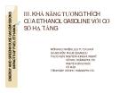 KHẢ NĂNG TƯƠNG THÍCH CỦA ETHANOL GASOLINE VỚI CƠ SỞ HẠ TẦNG