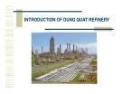 Đề tài : Nhà máy lọc dầu Dung Quất
