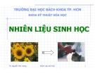 Bài giảng nhiên liệu sinh học - Giới thiệu