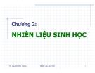 Bài giảng nhiên liệu sinh học - Chương 02