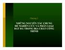 NHỮNG NGUYÊN TẮC CHUNG ĐỂ NGHIÊN CỨU VÀ PHÂN LOẠI ĐẤT ĐÁ TRONG ĐỊA CHẤT CÔNG TRÌNH