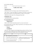 Giáo án bài Nghĩa thầy trò – Tiếng việt 5 tuần 26 - GV.Phạm T.Thư