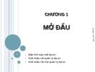 Bài giảng quản lý dự án - Chương 1