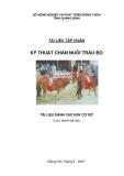 Kỹ thuật chăn nuôi trâu bò ( tài liệu dành cho KNV cơ sở)