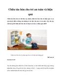 Chữa táo bón cho trẻ an toàn và hiệu quả