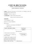 Giáo án unit 10: Recycling - Tiếng Anh 8 - GV.Đỗ Minh Vương