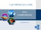 Lập trình components