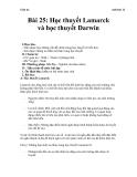 Giáo án Sinh học 12 bài 25: Học thuyết Lamac và Đacuyn