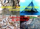Nguyên lý kinh tế thủy sản - Trịnh Quang Thoại