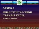 Chương 4 : Phân tích tài chính trên Ms. Excel