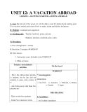 Giáo án unit 12: A vacation abroad - Tiếng Anh 8 - GV.Ng.Minh Luân