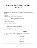 Giáo án unit 14: Wonders of the world - Tiếng Anh 8 - GV.Ng.T. Vui