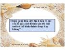 Bài giảng Sinh học 12 bài 30: Quá trình hình thành loài (tt)