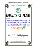 """Luận văn """"Phân tích tình hình tiêu thụ sản phẩm và công tác marketing của Nhà Máy Sữa Đậu Nành Việt Nam-VinaSoy_2"""""""