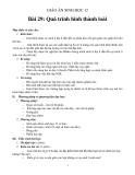 Giáo án Sinh học 12 bài 29: Quá trình hình thành loài