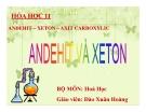 Bài giảng Hóa học 11 bài 44: Anđehit - Xeton