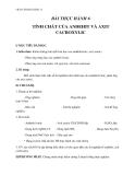 Giáo án Hóa 11 bài 47: Thực hành tính chất của Anđehit và Axit Cacboxylic – GV.Ng Thùy Mai