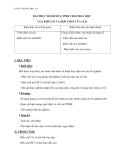Giáo án Hóa học 10 bài 27: Thực hành tính chất hóa học của khí Clo và hợp chất của Clo – GV.Dương Văn Bảo