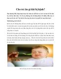 Dinh dưỡng cho trẻ bị bệnh