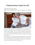 Chứng đau lưng ở những người cao tuổi