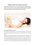 Những sai lầm cần tránh khi mang thai