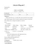 Giáo án unit 13: Activities - Tiếng Anh 7 - GV.Hoàng Mỹ Thanh