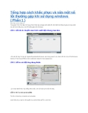 Tổng hợp cách khắc phục và sửa một số lỗi thường gặp khi sử dụng windows