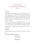 Giáo án Ngữ văn 9 bài 20: Chuẩn bị hành trang vào thế kỷ mới