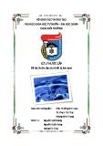 Tiểu luận Nước cấp cho thiết bị làm lạnh - GVHD TS. Đồng Kim Loan