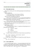 Giáo trình thủy lực - Ths. Lê Minh Lưu - Chương 1