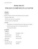 Giáo án bài 35:  Thực hành tính chất các hợp chất của lưu huỳnh – hóa học 10