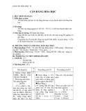 Cân bằng hóa học – Giáo án bài 38 chương 7 hóa học 10