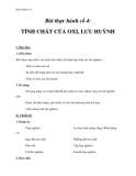 Thực hành tính chất của oxi, lưu huỳnh – Giáo án chương 6 hóa học 10