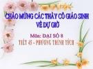 Bài giảng Đại số 8 chương 3 bài 4: Phương trình tích