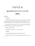 Giáo án bài 35: Biến dạng cơ của vật rắn - Lý 10 - GV.Đ.Nam