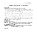 Giáo án bài 37: Các hiện tượng bề mặt của chất lỏng – Vật lý 10 - GV.B.Lan