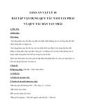 Giáo án Bài tập vận dụng quy tắc nắm tay phải và quy tắc bàn tay trái - Lý 9 bài 30 - GV.M.V.Hà